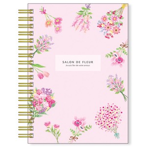 Salon Rule Hard Cover Ring Notebook pink