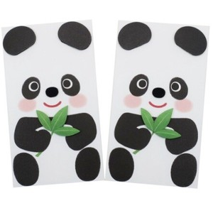 Panda Bear Hand Maid Solid Money Envelope 2 Pcs Set