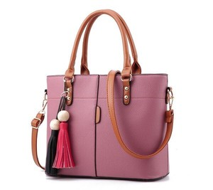 Ladies Handbag Leather Messenger Bag Tote Bag Shoulder Bag Large capacity Pink