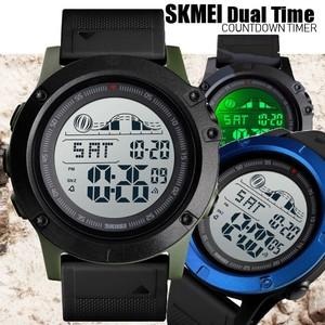 SKMEIデュアルタイム・ビッグフェイスデジタル腕時計/レジャー/アウトドア/スポーツ/日常生活強化防水