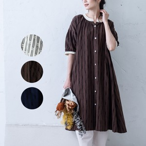 S/S Gather One-piece Dress