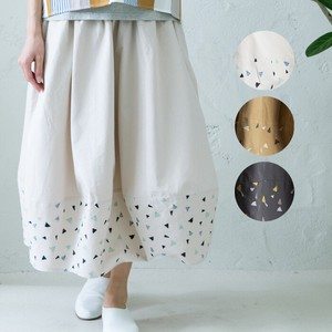 S/S Embroidery Print Balloon Skirt