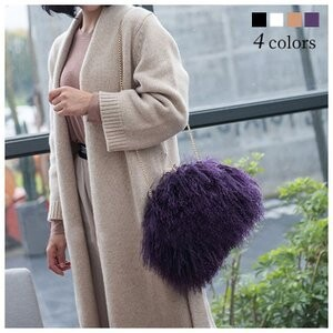 [ 2020NewItem ] Tibet Fur Ladies Shoulder Bag Fur Bag
