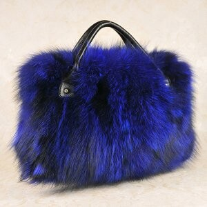 [ 2020NewItem ] Fur Fox Fur Bag Diagonally Shoulder Single-shoulder Tote Bag