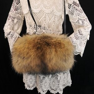 [ 2020NewItem ] Raccoon fur Hand Warmer Ladies Fur Raccoon fur Bag