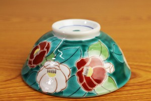Overglaze Enamels Rice Bowl Four Seasons Flower