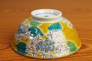 Overglaze Enamels Rice Bowl Four Seasons Flower Hydrangea