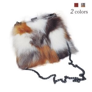 [ 2020NewItem ] Fur Bag Shoulder Bag Fur Pouch Diagonally Fox Fur Bag