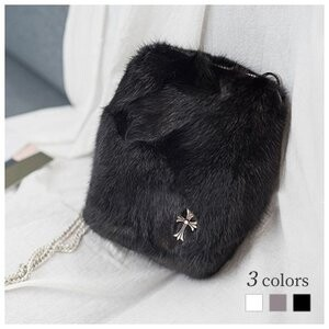 [ 2020NewItem ] Mink Fur Bag Shoulder Bag Pouch Bag Real Fur Chain Bag Ladies
