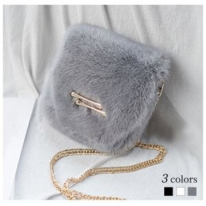 [ 2020NewItem ] Fur Bag Shoulder Bag Mink Fur Bag Ladies Shoulder Mini Bag