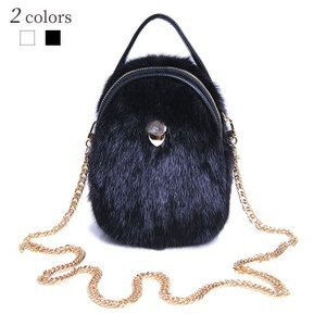 [ 2020NewItem ] Handbag Ladies Bag Fur Bag Mink Fur Shoulder A/W Fancy Goods A/W Bag