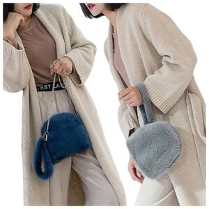 [ 2020NewItem ] Mink Fur Bag Handbag Bag Fur Bag Diagonally Chain Fur Handbag