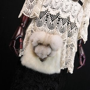 [ 2020NewItem ] Fur Fur Fox Fur Rabbit fur Bag Shoulder Bag Diagonally Shoulder