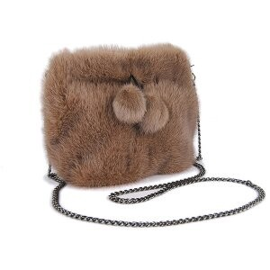 [ 2020NewItem ] Fur Fur Mink Fur Bag Bonbon Pouch Diagonally Shoulder Single-shoulder