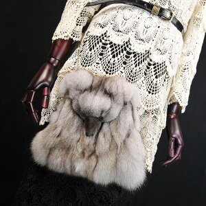 [ 2020NewItem ] Fur Fur Fox Fur Bag Shoulder Bag Diagonally Shoulder Single-shoulder