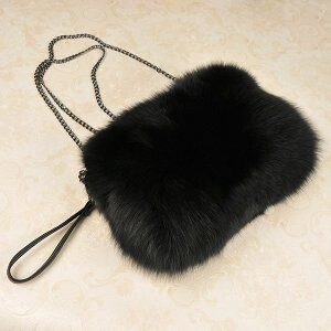 [ 2020NewItem ] Fur Fur Fox Fur Bag Shoulder Bag Single-shoulder Diagonally Shoulder