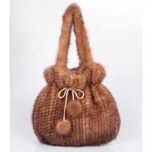 [ 2020NewItem ] Pouch Bag Corsage Mink Fur Bag Bonbon Attached