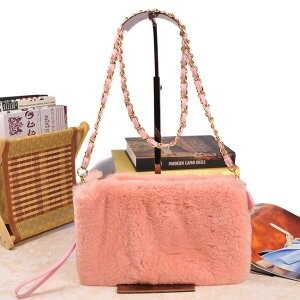 [ 2020NewItem ] Fur Fur Rex Fur Bag Shoulder Bag Clutch Bag