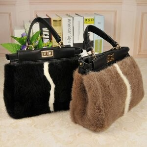 [ 2020NewItem ] Fur Fur Mink Fur Bag Shoulder Bag Diagonally Shoulder