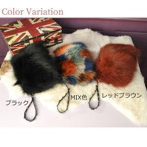 [ 2020NewItem ] Fox Fur Bag Clutch Shoulder Bag Diagonally Bag Fur Bag