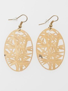 Design Watermark Pierced Earring