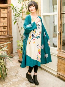 Design Embroidery Long Cardigan