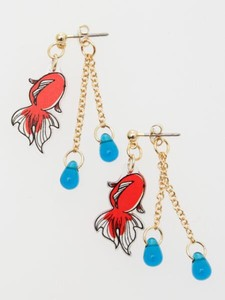 Decoration Goldfish Pierced Earring