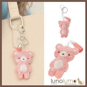 Key Ring Bag Charm bear Teddy Bear Pink Glitter Ladies
