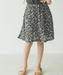 Half Length Checkered Dot Floral Pattern Double Gauze Skirt Skirt & Pants