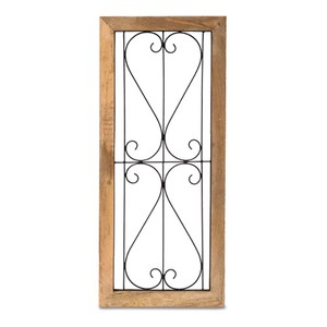 Poth Living Wood Frame Wall Deco Ornament Pool