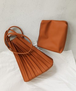 Reserved items Pouch Attached Eco Leather Pleats Bag