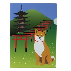 A4 Plastic Folder A4 Single Plastic Folder Japan Series Shiba Dog
