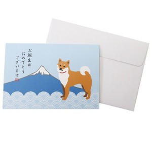 Pop Message Card Japan Series Birthday Shiba Dog