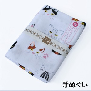 Hand Towel Double Gauze Hand Towel Cat Fortune Japanese Craft