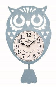 Owl Pendulum Clock/Watch Blue
