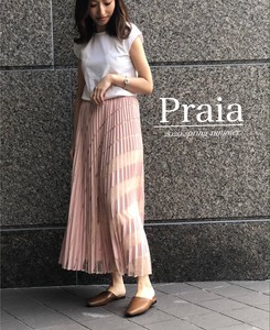 Design Lace Chiffon Switching Pleats Long Skirt