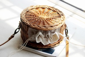 Straw Bag Hand Knitting Round Bag Ladies Bag Messenger Bag