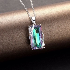 Flower Tourmaline Pendant Europe America Delicate Necklace Pendant
