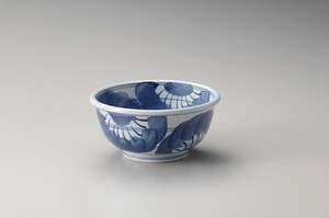 Hand-Painted Flower Donburi Bowl Pottery