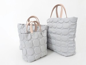 Leather Handle Petit Dot Tote Bag Light Grey