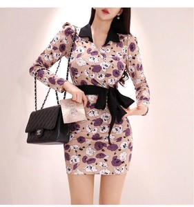 Ladies One-piece Dress Floral Pattern One-piece Dress One Piece Party Dress