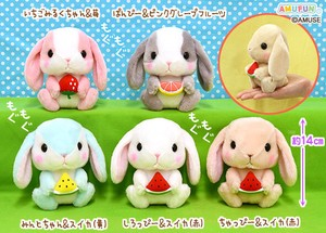 """Poteusa Loppy"" Rabbit Soft Toy Nom Nom Fruit"