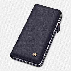 Men's Wallet Brand Leather Genuine Leather Vintage Cow Leather Long Wallet Long Clutch