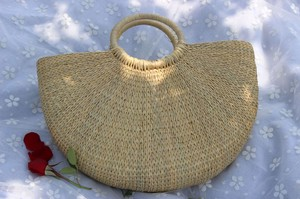 Straw Bag Yellow Straw Weaving Bag Ghana Moon Bag Yellow Straw Bag