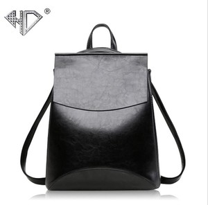 Genuine Leather Handbag soft Face Retro College Ladies Backpack Ladies Bag