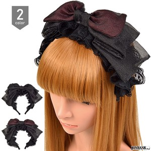 Head Dress Ribbon Headband Frill Gothic Dress Cosplay