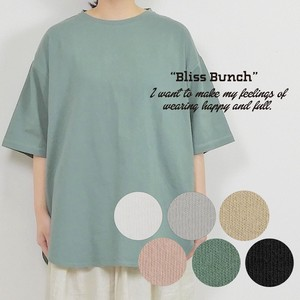 [ 2020NewItem ] Recycling Cotton Jersey Stretch Plain Big Tunic Half Length