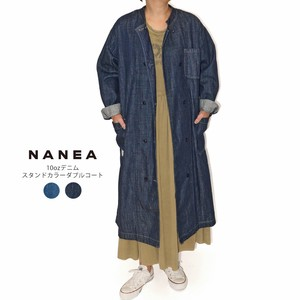 S/S Denim Stand Color Double Coat
