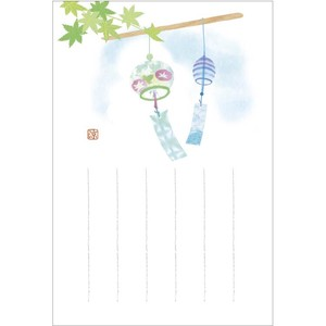 Postcard Japanese Style 3 Pcs Wind Chime Ruled Line