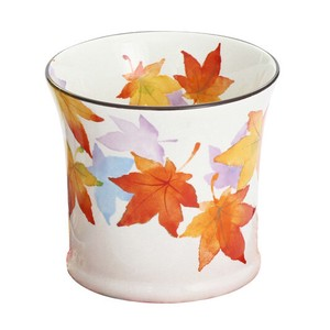 Mino Ware 1Pc Autumn Leaves RockCup